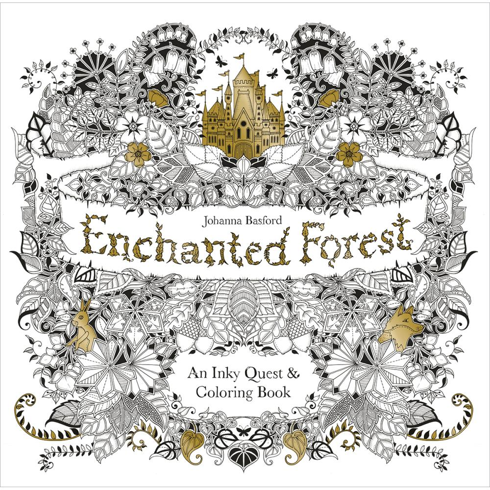 Johanna Basford ENCHANTED FOREST Coloring Book 1599 Each