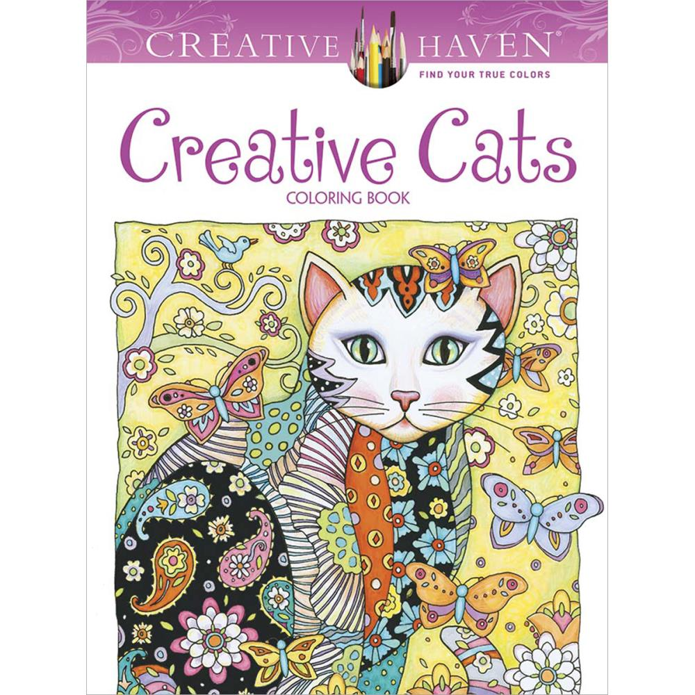 Dover CREATIVE CATS Coloring Book 599 Each