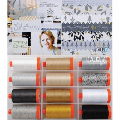 Everyday COLOR 12 Lg Spools Collection Aurifil Thread by Me /& My Sister 50 wt