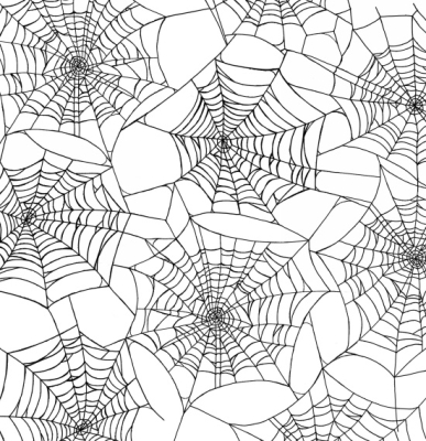 Henry Glass Fright Night by First Blush Studio 1107 1 White Spider Webs   9.80 yd c4dcd3e45