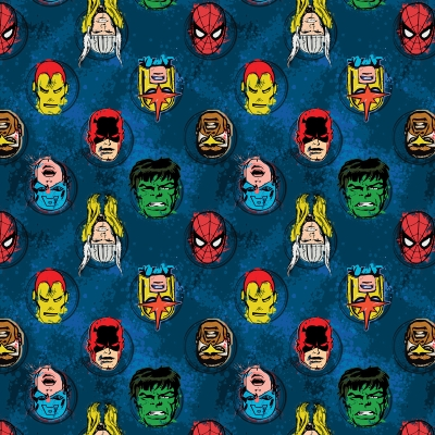 Camelot Cottons Marvel Comics II 13020205 1 Red Marvel Characters Cotton Fabric