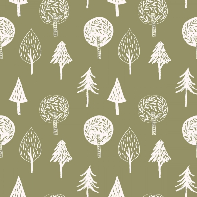 06b0348bc6 3 Wishes Little Thicket 14525 Green Trees  6.99 yd