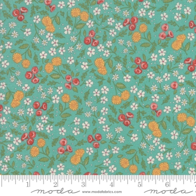 Moda Oops A Daisy Floral Brown Cotton Quilting Fabric