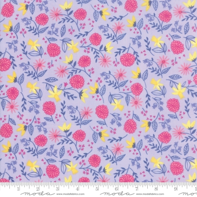 7bfc7f4a46b Moda Once Upon a Time by Stacy Iest Hsu 20594 17 Lavender Flower Toss   10.40 yd