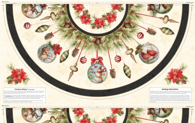 e55e0a302 Wilmington Woodland Holiday by Lisa Audit 2108 197 Tree Skirt Panel - 58