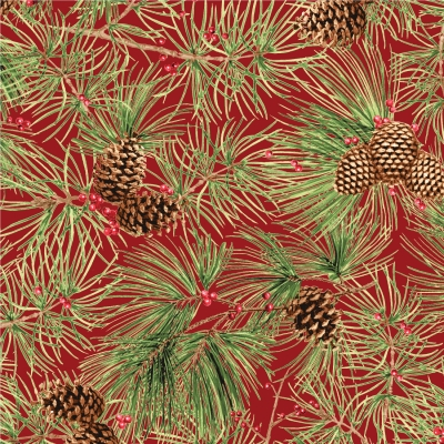 "1 yd of /""Woodland Christmas/"" by Sandy Lynam Clough for Red Rooster Fabrics"
