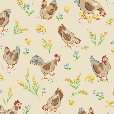 Liberty Companions Fabric by P3 Designs for Red Rooster