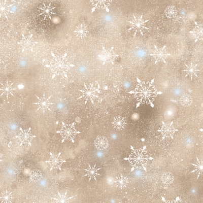 WOODLAND CUTIES NAVY SNOWFLAKES SNOW QUILTING FABRIC NO 36