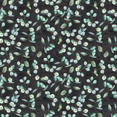 Pink Roses Floral White Polka Dots on Blue Flowers Patty Reed Cotton Fabric t3//9
