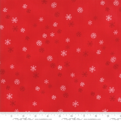 b7098a5578c Moda Sno by Wenche Wolff Hatling 39725 17 Red Snowflakes  9.99 yd