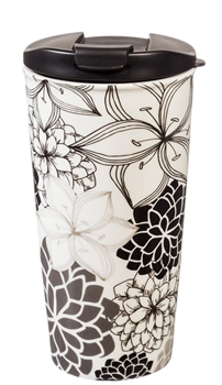 MARY SQUARE SCRIPTURE ART INSULATED TUMBLER SAVANNAH BLUE TRAVEL CUP BOTTLE
