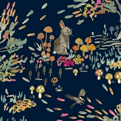 Windham Fabrics Enchanted Forest By Betsy Olmsted 43498 2 Navy Shady Meadow 999 Yd