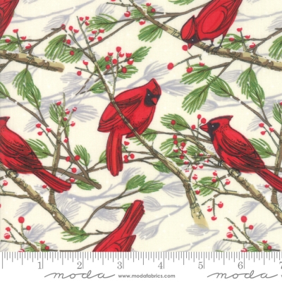 Cardinal Silhouette After Dark SET OF 2 HAND TOWELS EMBROIDERED By Laura