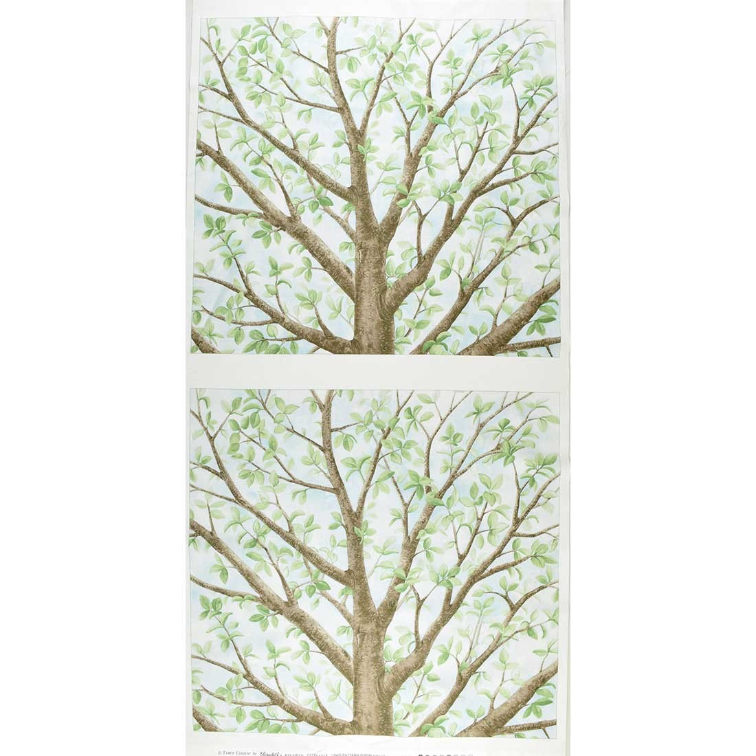 "Elizabeth's Studio Magic Tree by Tracy Lizotte 4315 Azure Cream Tree Panel  $7.75/panel 24"" x 42"""