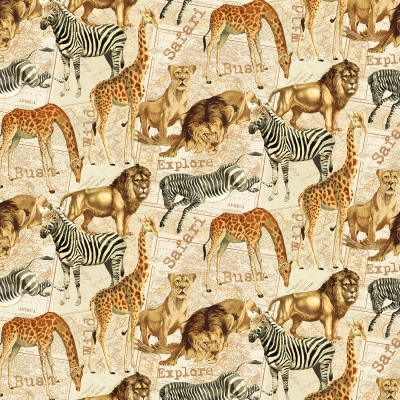 Safari Collection Lion Counted Cross Stitch PATTERN ONLY Janet Powers for Green Apple Co Nature Animals