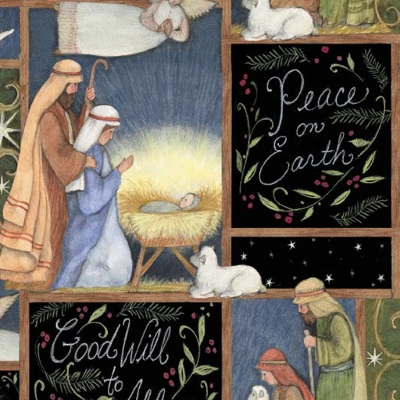 O Holy Night Amish Handmade Childrens Cloth Storybook
