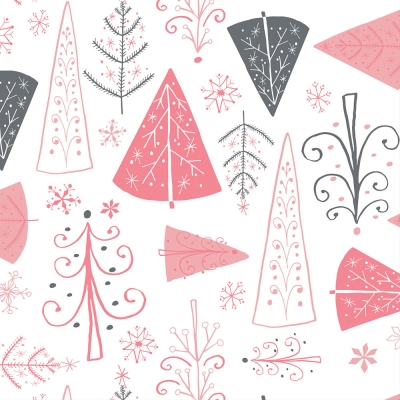 2 Pack Graphique de France Graphique Set of 20 36-Ply Christmas Themed Cocktail Napkins Holiday Mittens