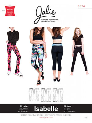 db639ad7c6b Jalie Patterns - Isabelle Leggings and Skating Pants #3674 - Women/Girls  Sizes $13.50/each