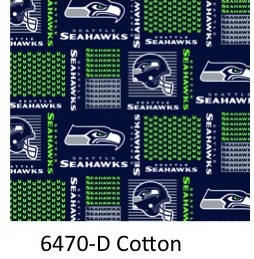 "NFL SEATTLE SEAHAWKS 6402 D Navy with Seahawks Logo 60/"" Wide Cotton Fab BTY"
