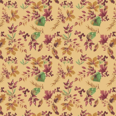 6aee0aabd5abc Camelot Fabrics Fables 71180402 1 Mustard Leaves  10.20 yd PREORDER DUE  JULY AUG  19