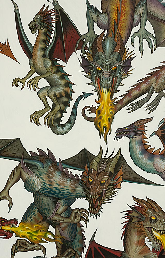 bfb01a9bca85 Alexander Henry Nicole Prints 7392 C Tale of the Dragon $10.10/yd