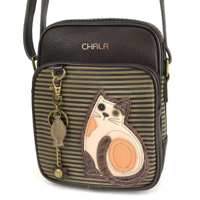 2946416e3 CHALA LAZZY CAT ORGANIZER CROSSBODY Olive Stripe 838CT7S $54.00/each