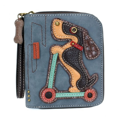44fe904f2 CHALA ZIP AROUND WALLET DOG SCOOTER BLUE 839WS1 $30 each