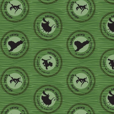 1 Yard Choir of Angels Green Quilt Fabric Free Shipping