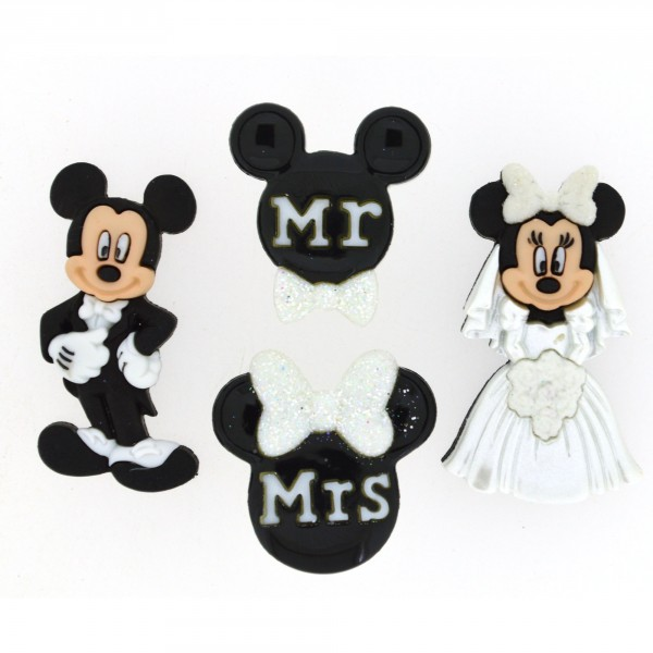 17544793f884a Dress it UP by Jesse James Mickey and Minnie Wedding Button Set 8813  4.00  each