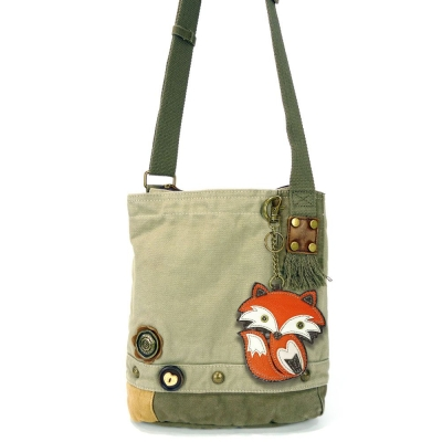 66fde519572a Chala Fox - Patch Crossbody Bag in Sand  43 each