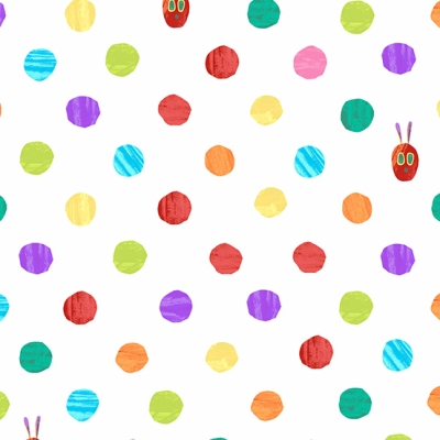 """The Very Hungry Caterpillar Print 30/"""" L by 44/"""" W Cute An Andover Cotton"""