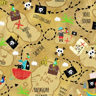 CLEARANCE YARD CHILDREN PIRATES SHIPS TREASURE ISLAND SEA SKULL CROSSBONES ST