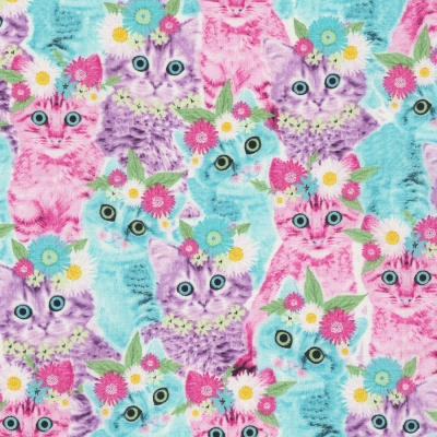 Timeless Treasures Cats C5393 Galaxy Cats FREE US SHIP Cotton Fab