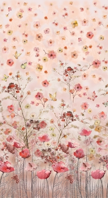Wild Meadow Digital Floral Panel 36 x 44 Cotton Fabric by Timeless Treasures