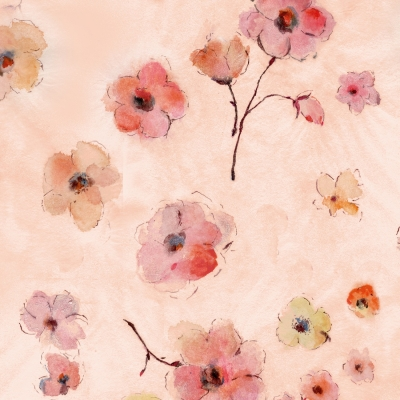 MEADOW PINK Makower 100/% Cotton Quilting Fabric Flowers Floral Blenders DREAM