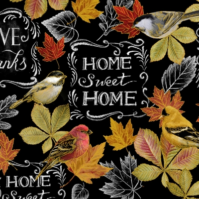 16c383b6c Timeless Treasures Thankful & Grateful CM7087 Black Home Sweet Home  Metallic $10.80/yd PREORDER DUE APRIL/MAY '19