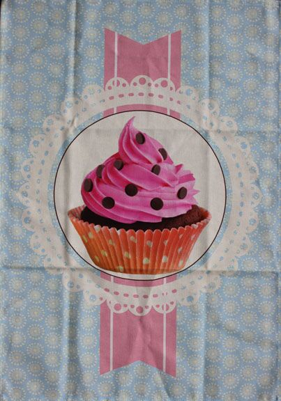 a028d451bf6 French Connection Tea Towel PINK CUPCAKE #3 $11.99 each