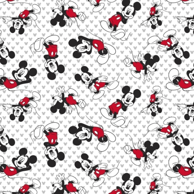 bf0a8f7530df0 Springs Knits Disney 60006 Mickey Mouse Toss Cotton/Spandex Knit $11.40/yd