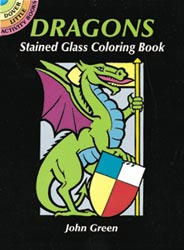 Dover Dragons Stained Glass Coloring Book 150 Each Mini