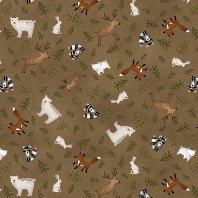 4af76c7a1a93 Henry Glass Folk Art Flannels 3 F2374 38 Cocoa Animal Toss  10.99 yd  PREORDER DUE OCT NOV  19