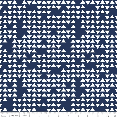 93d76618519 Riley Blake Flannel F5782 Navy Triangles FLANNEL $7.99/yd
