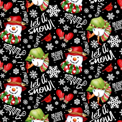 Christmas Postcard Letters Santa Family Fabric Henry Glass Believe By The Yard