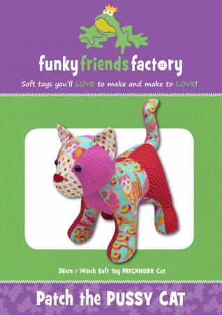 8672254fae7 Funky Friends Factory Patch the Pussycat Pattern FF4705  13 each