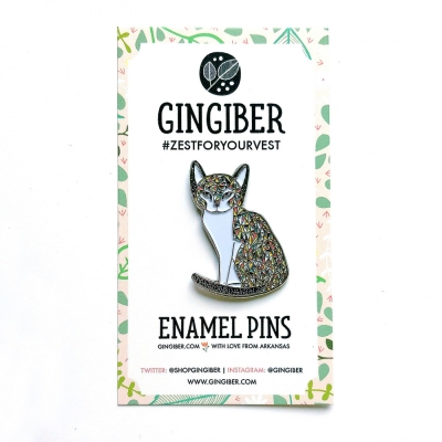 d20a086994b1 Gingiber STRIPED CAT Enamel Pin GGBE110 $11.99/each