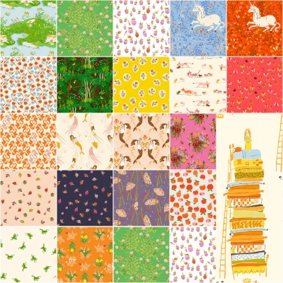 "*NEW* 100/% COTTON FABRIC FAT QUARTER ASIAN KITTY PRINT 18/"" X 21/"""