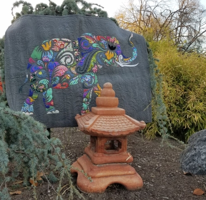 3ac67a7f Laser Cut Quilts by Madi Hastings HOLI GANESHA ELEPHANT Laser Cut Quilt -  No Backing $62/each kit no backing