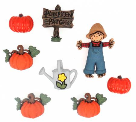 fad115d2dd6 Jesse James Dress it up Buttons - Sew Cute PUMPKIN PATCH 3256 6 count  Button Pack  2.30 per package
