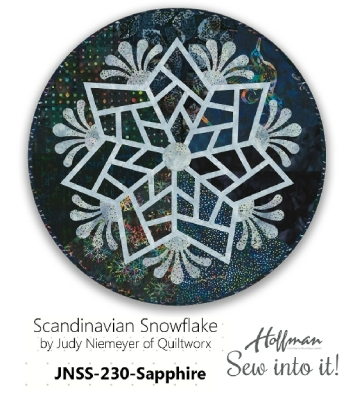bc11a398a273 Hoffman KITS SCANDINAVIAN SNOWFLAKES KIT (Does NOT Include Pattern) by Judy  Niemeyer JNSS 230 Sapphire $59.50/each Kit - Fabric Only