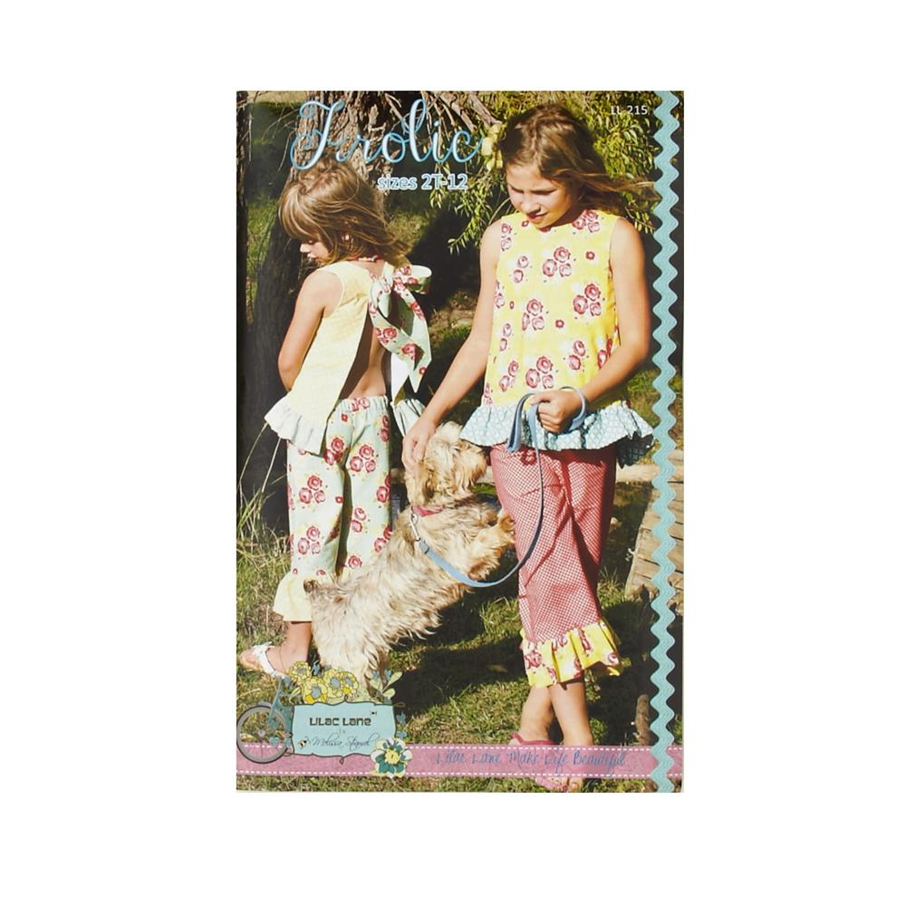 cc8fd1bc63ad2 Lilac Lane Patterns - FROLIC Girls Ruffled Tank and Ruffled Capris Pattern  LL215  11.50 each