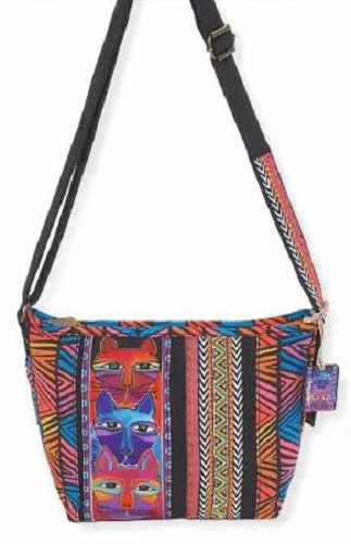 87286fe03 Laurel Burch Stacked Whiskered Cats Crossbody Tote LB5643  21.00 each
